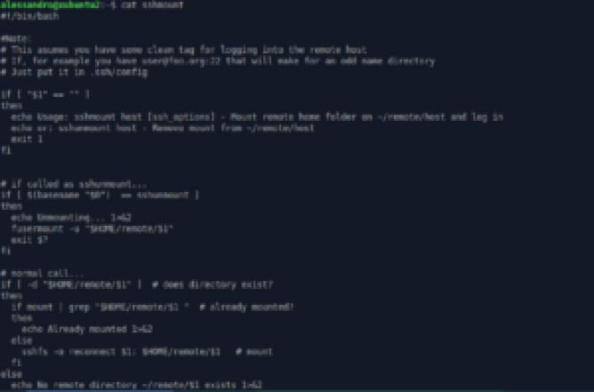 sshmount ssh sshfs open source
