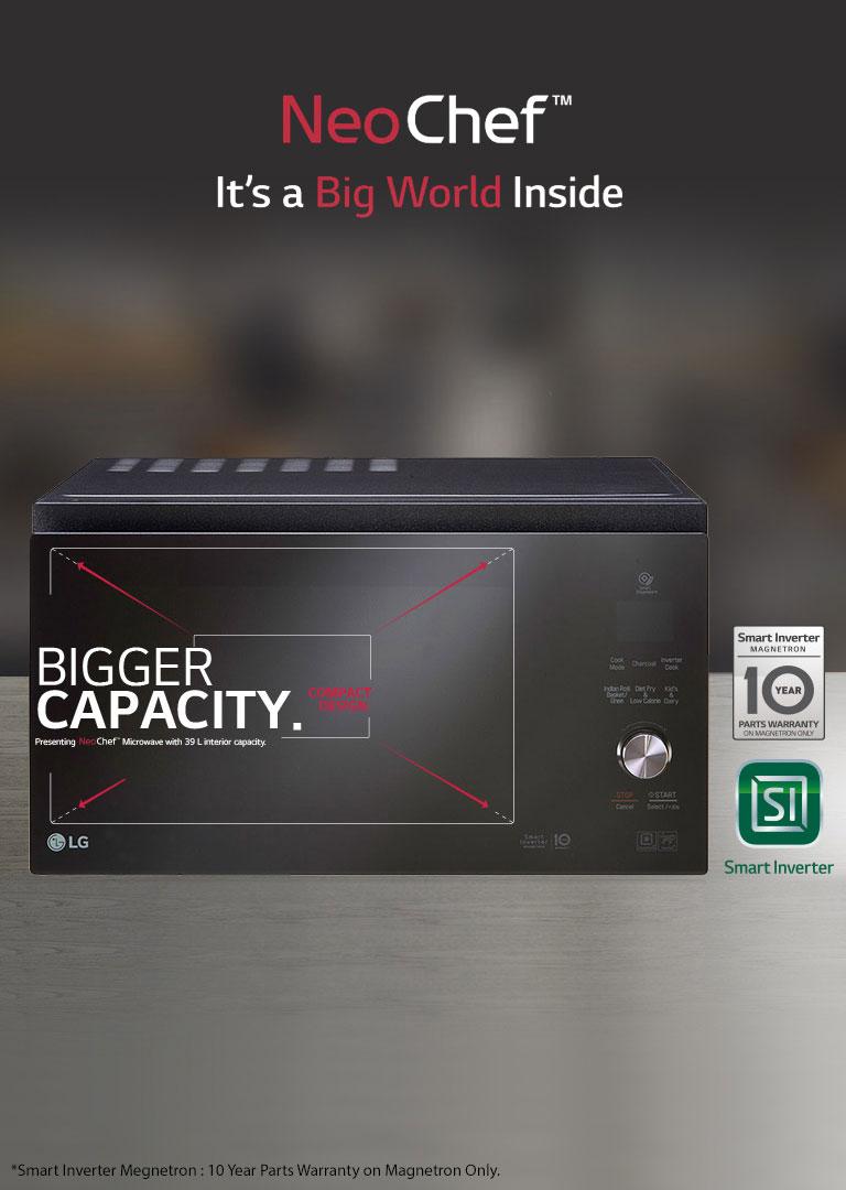 lg neochef smart inverter microwave ovens lg india