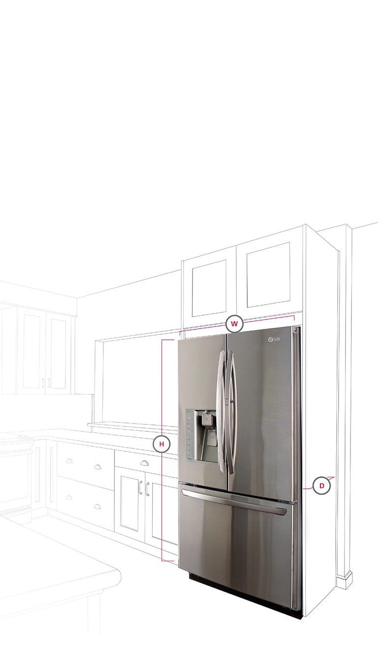 Lg Counter Depth Refrigerators Built In Look For Your