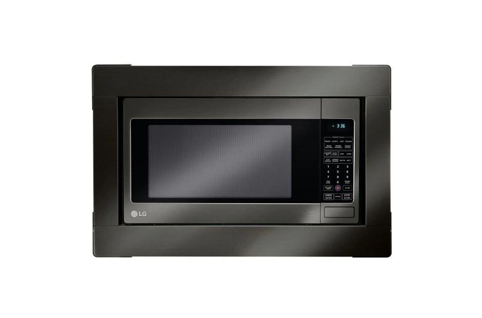 lg black stainless steel series microwave trim kit