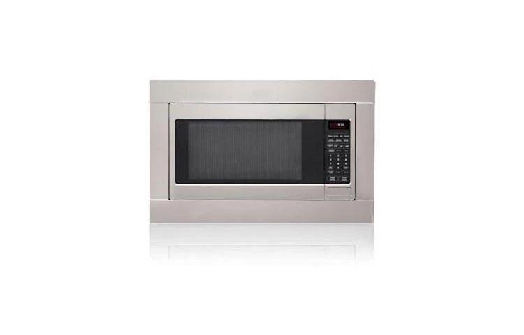 studio series countertop microwave with optional trim kit
