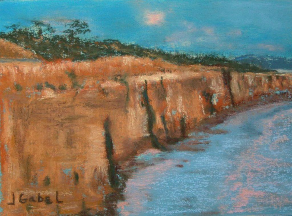 "© Laura Gabel, ""Cliffs"". Pastel. Private collection."