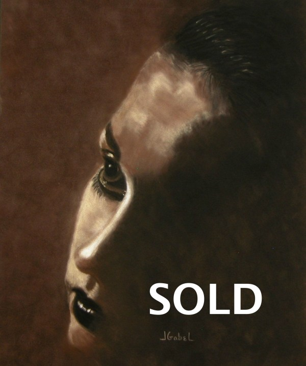 """© Laura Gabel, """"Into the Light"""". Soft Pastel on Velour 15.5 x 18.5. Private collection."""