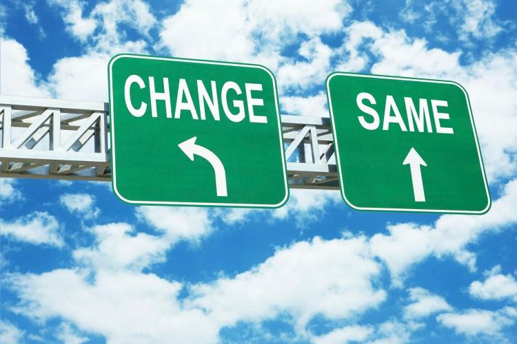 Am I Crazy? change/same road signs