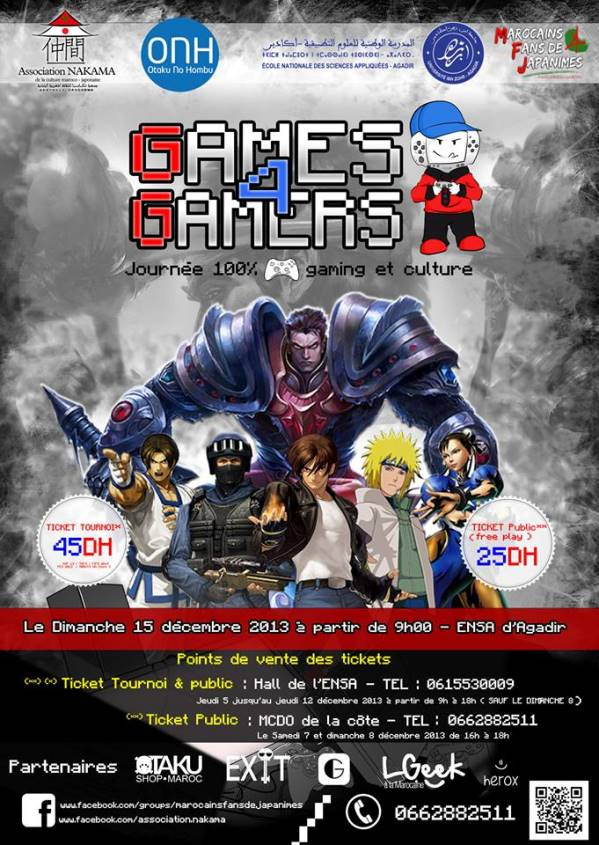 Affiche Games 4 Gamers G4G