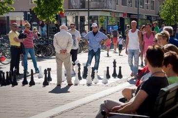 Schack på Storgatan, Luleå. Fotograf Lars-Göran Norlin