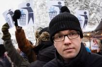 Jimmie Åkesson på Jokkmokks marknad 8 februari 2014