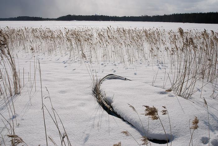 Båt i snö