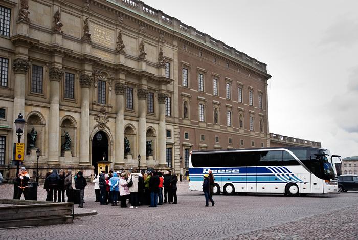 Turister vid Stockholms slott