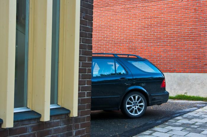 Bil, Saab. Fotograf Lars-Göran Norlin