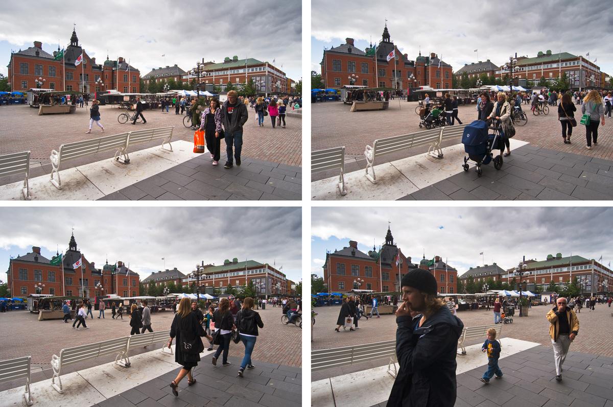 Rådhustorget, Umeå. Fotograf Lars-Göran Norlin