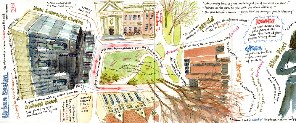 Showing the research world one drawing at a time: urban sketchers meets social science researchers.