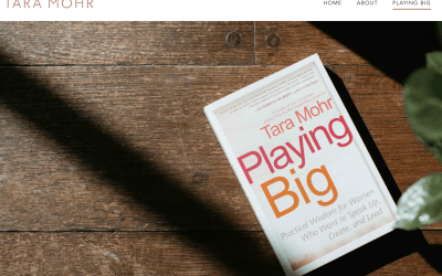 Book Review. Playing Big. A practical guide for brilliant women like you. Tara Mohr