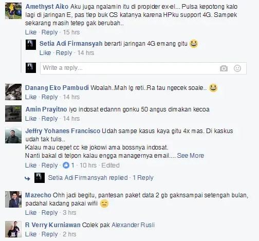 Komentar Pengguna Indosat