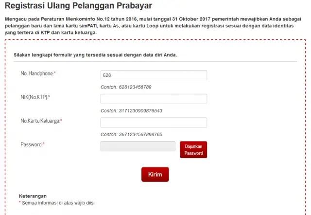 Registrasi Ulang Telkomsel