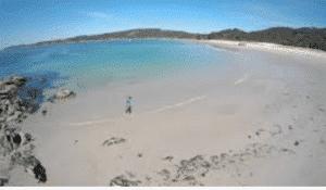 a praia de Nerga