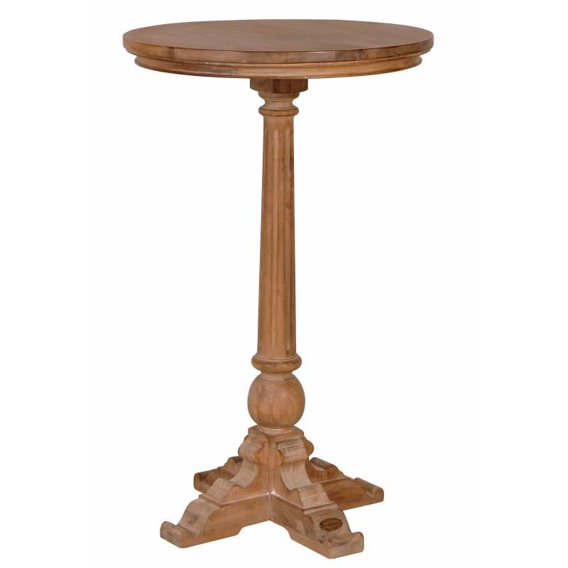 mange debout de kercoet table haute d appoint ronde table de bar bistrot gueridon en acacia massif 66x66x109cm