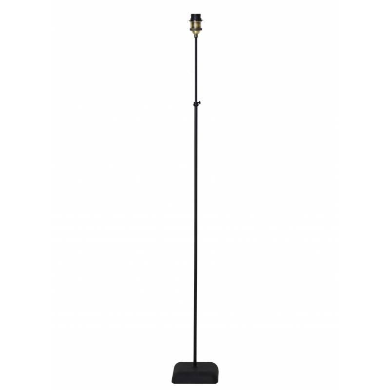 luminaire reglable davino pied de lampe socle rond eclairage d appoint en metal patine noir 23x23x160cm