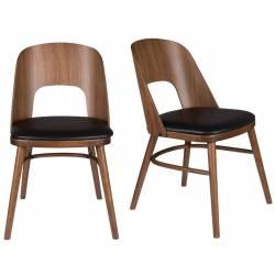 lot de 2 chaises talika assise art deco vintage siege de table en bois et cuir 45x59x81 5cm lot de 2 chaises talika assise art deco vintage siege de