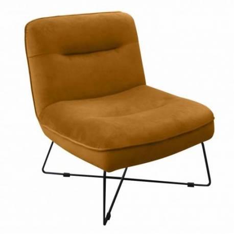 fauteuil design cedric gold hanjel siege de salon en velours et metal 64x72x80cm
