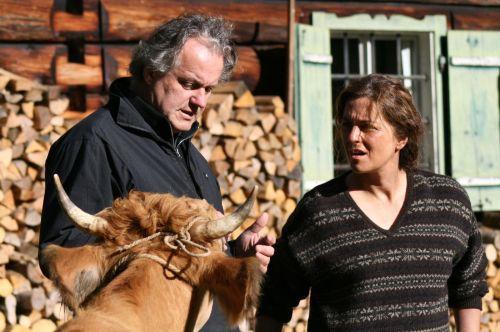 Le réalisateur, la vache et la comédienne...