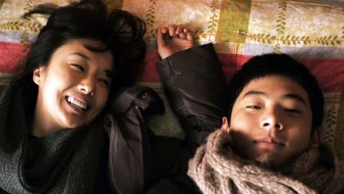 Ji-gu et sa copine. Il va reproduire son histoire ...