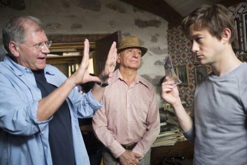 Zemeckis avec Ben Kinsgley, le mentor du jeune funambuliste