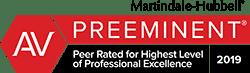 2019 AV Preeminent - Martindale-Hubbell