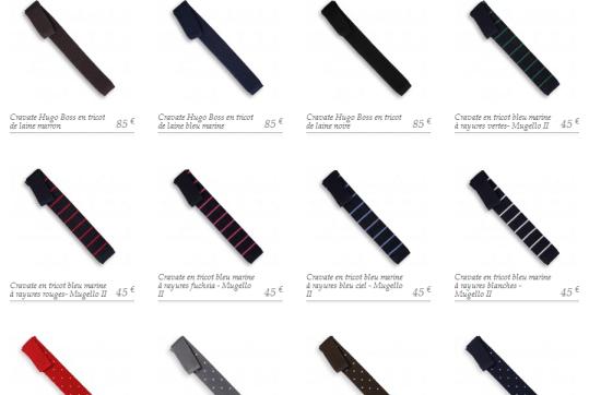 Cravate en laine de la maison de la cravate