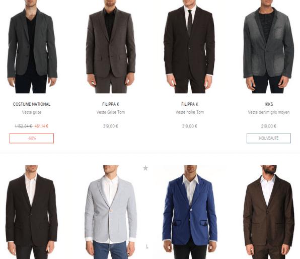 veste pour homme