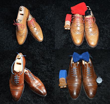 chaussures avec lacets de couleur pour homme