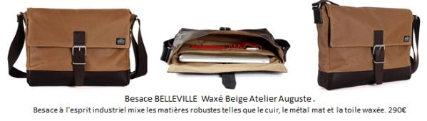 """Besace """"Belleville"""", Atelier Auguste"""