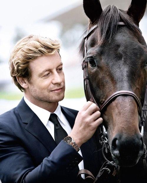 Simon Baker pour Longines , ambassadeur du prix de Diane qui se déroule en Mai de chaque année sur l'hippodrome de Chantilly.