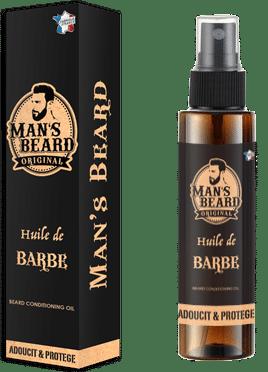Man's Beard: huile de barbe // Packaging et Flacon