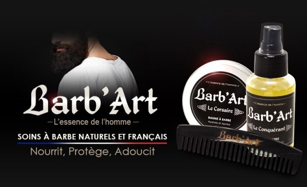 Barb'Art soins naturels pour la barbe et fabriqués en France