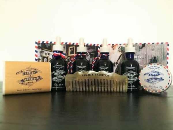 Gamme de produits et soins pour la barbe Lames & Tradition