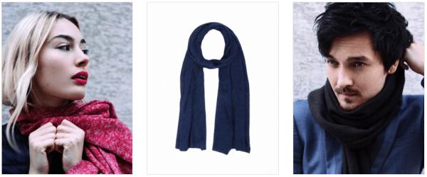 Écharpes en laine de Yak pour homme et femme