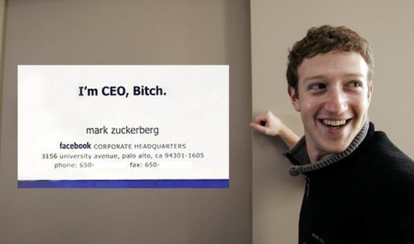 mark zuckerberg carte de visite