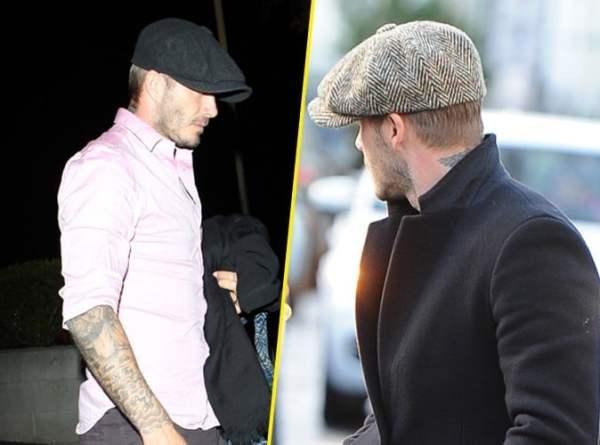 David Beckham en casquette homme