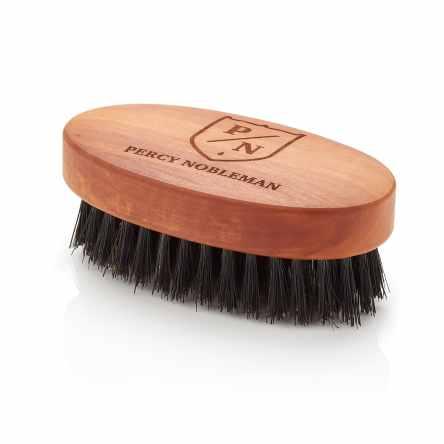 Brosse à barbe par Percy Noble - Fabriqué en Autriche Poire bois huilé - 100% poils de sanglier brosse pour hommes