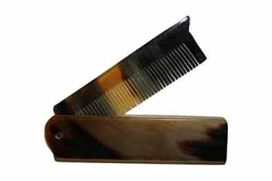 Peigne pliable à barbe en corne de buffle