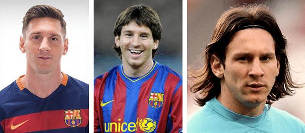 Lionel Messi sans barbe