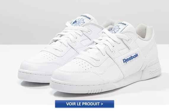REEBOK CLASSIC WORKOUT PLUS blanche: 90€ sur Asos