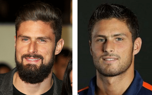 Olivier Giroud sans barbe
