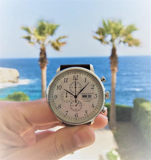Montre homme Armogan « Spirit of St. Louis » chronographe avec 2 compteurs