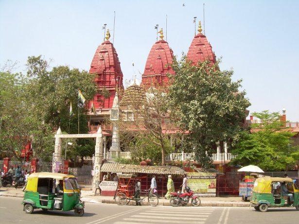 Delhi temple et tuktuk
