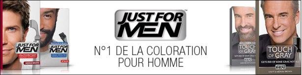Just For Men est l'une des marques de colorations de cheveux pour homme les plus connues à travers le monde puisque la marque est le N°1 mondial de la coloration cheveux pour homme