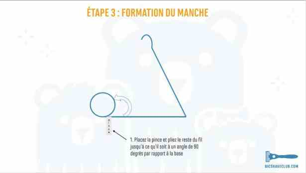 Etape 3 - DIY Support rasoir et blaireau