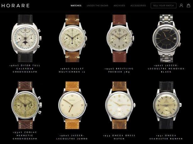 Ventes de montres de luxe vintage