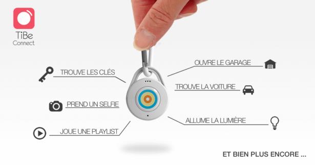 Le porte clé et bouton connecté, TiBe Connect